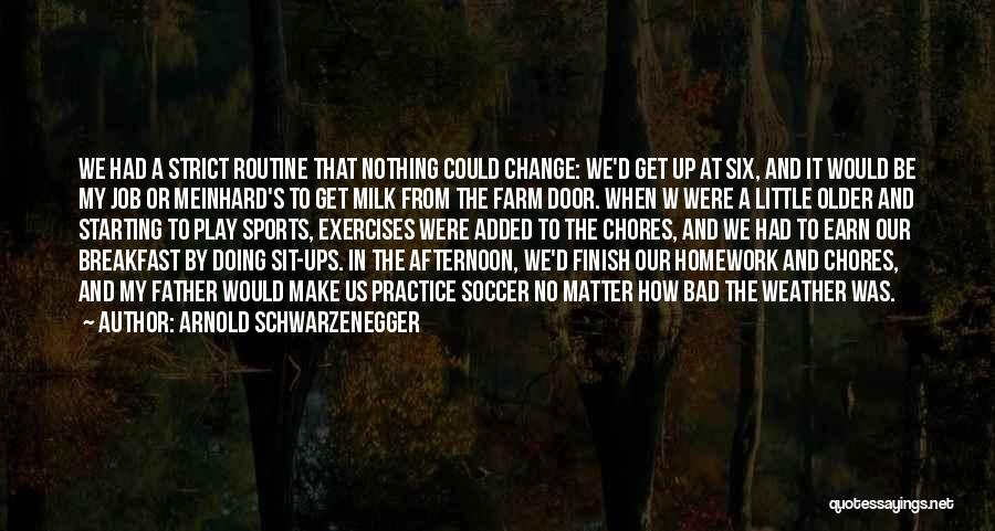 Bad Chores Quotes By Arnold Schwarzenegger