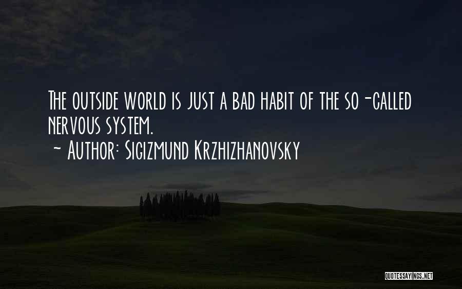 Bad Habit Quotes By Sigizmund Krzhizhanovsky