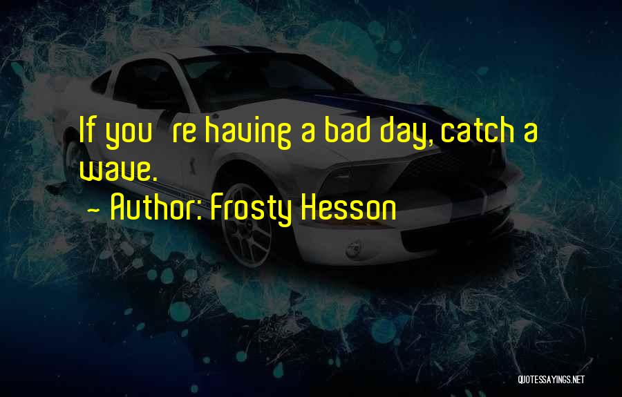 Bad Mr Frosty Quotes By Frosty Hesson