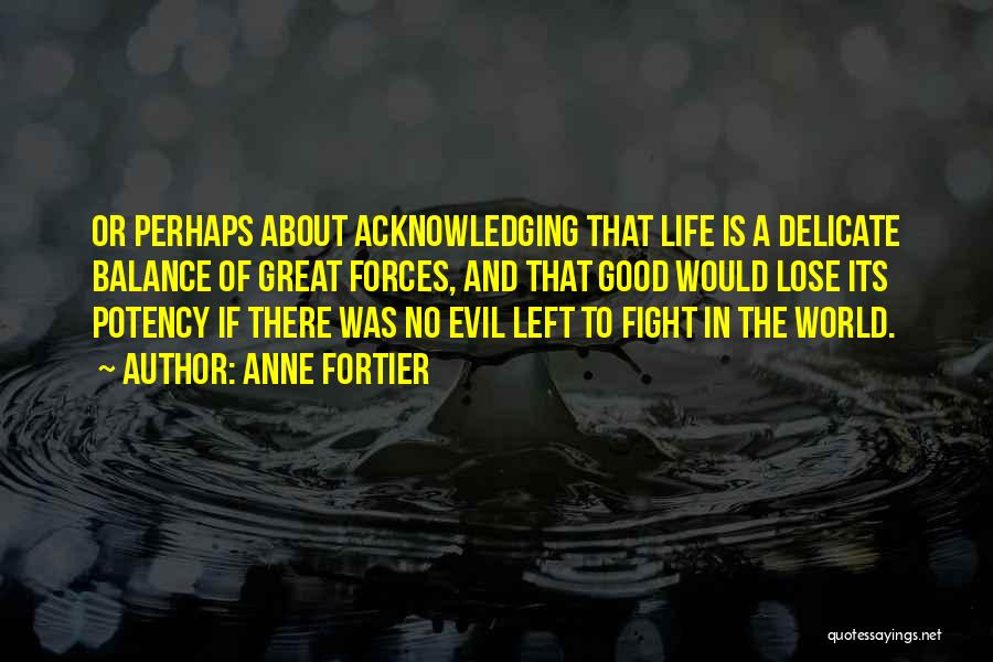 Balance Good And Evil Quotes By Anne Fortier