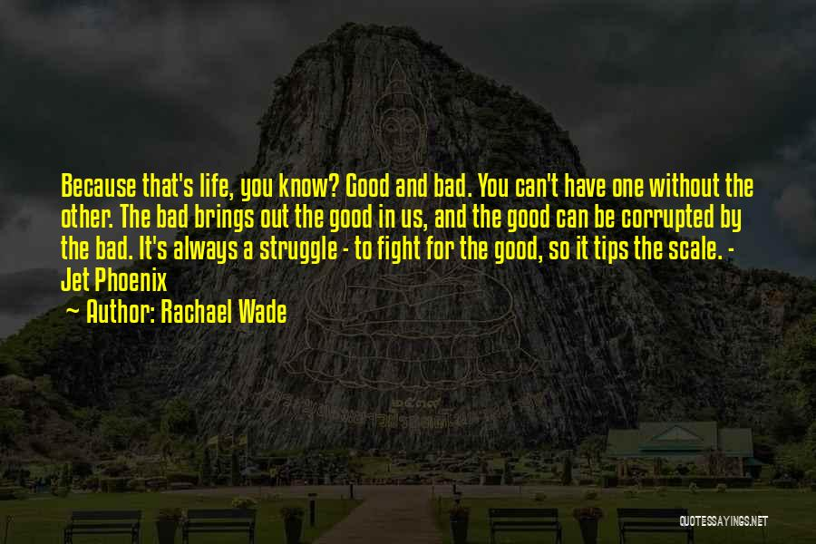 Balance Good And Evil Quotes By Rachael Wade