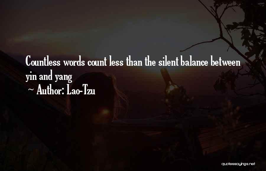 Balance Yin Yang Quotes By Lao-Tzu