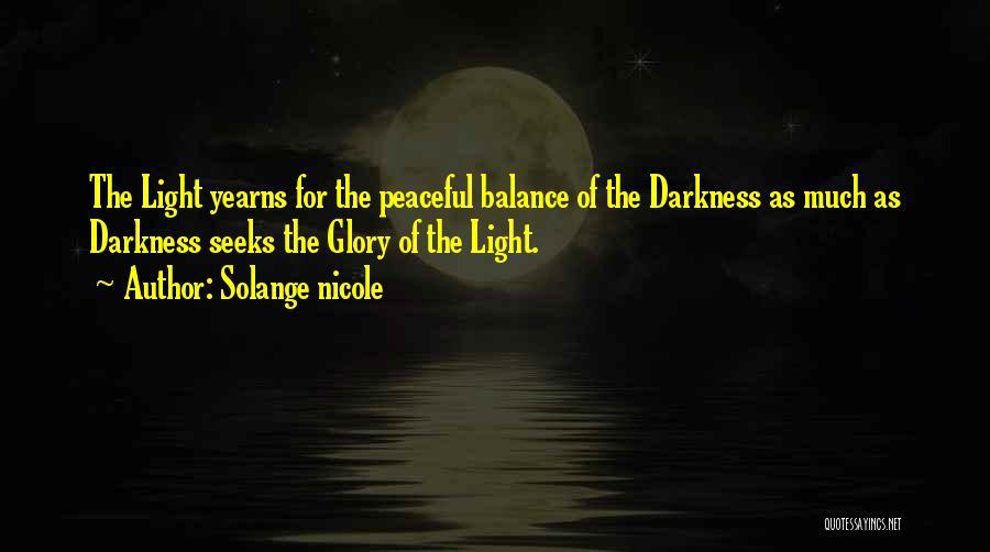 Balance Yin Yang Quotes By Solange Nicole