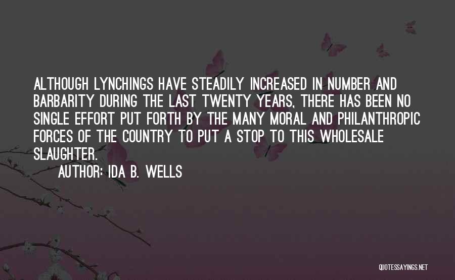 Barbarity Quotes By Ida B. Wells