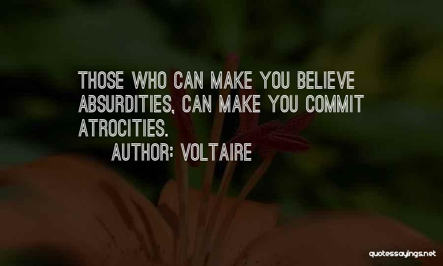 Barbarity Quotes By Voltaire