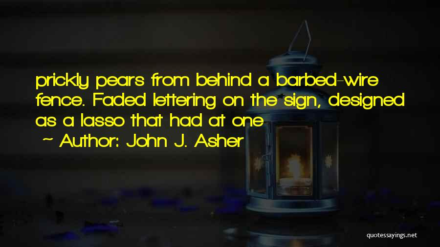 Barbed Wire Fence Quotes By John J. Asher