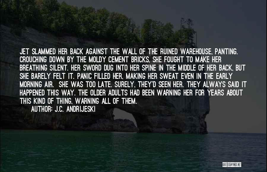 Barely Breathing Quotes By J.C. Andrijeski