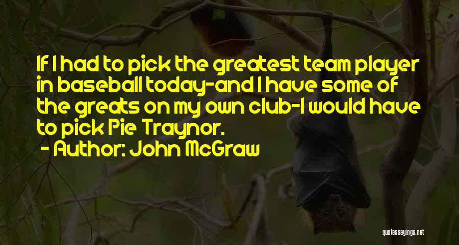Baseball Greats Quotes By John McGraw