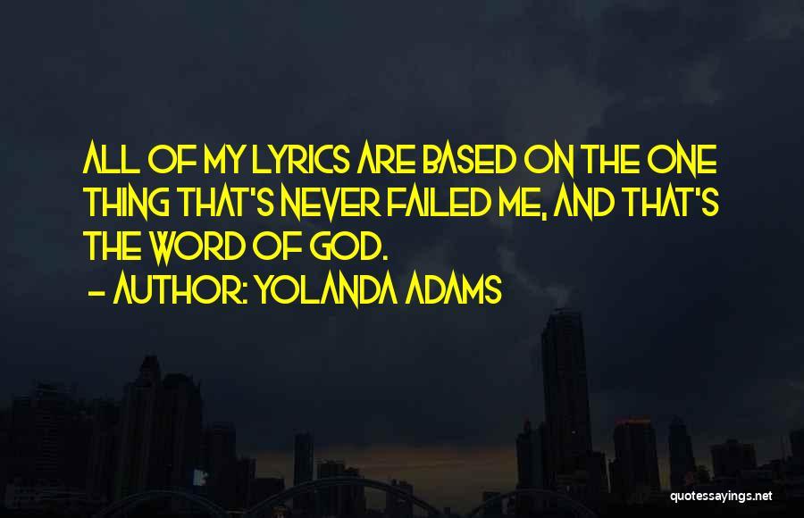 Based God Quotes By Yolanda Adams