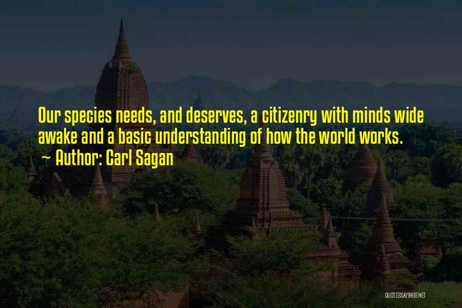 Basic Needs Quotes By Carl Sagan