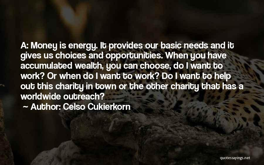 Basic Needs Quotes By Celso Cukierkorn
