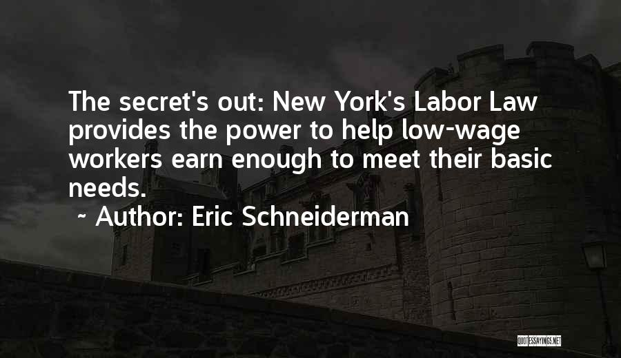 Basic Needs Quotes By Eric Schneiderman