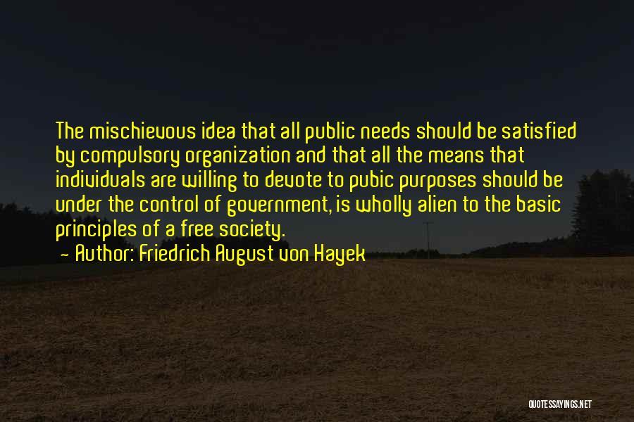 Basic Needs Quotes By Friedrich August Von Hayek
