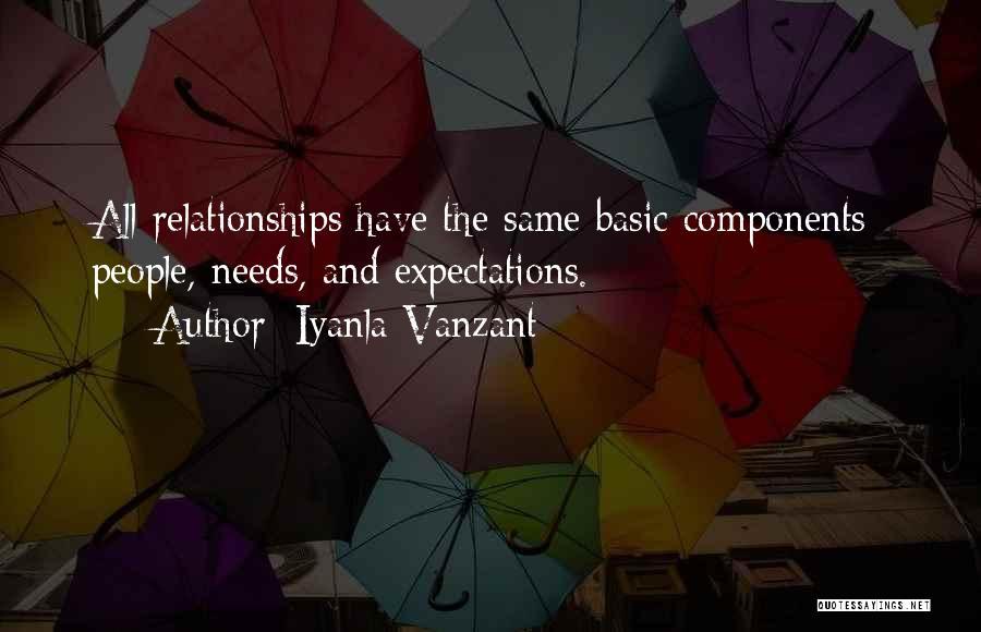 Basic Needs Quotes By Iyanla Vanzant