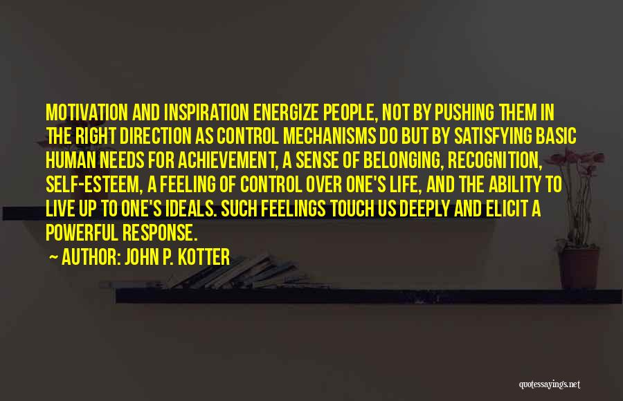 Basic Needs Quotes By John P. Kotter