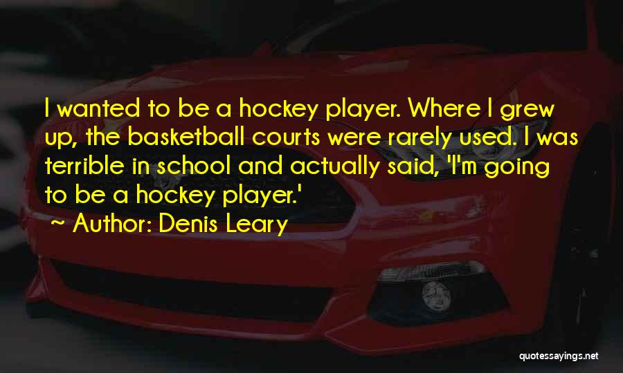 Basketball Courts Quotes By Denis Leary