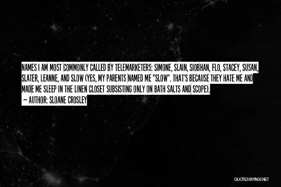 Bath Salts Quotes By Sloane Crosley
