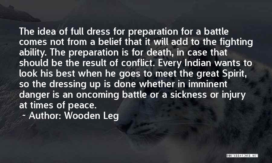 Battle Dress Quotes By Wooden Leg