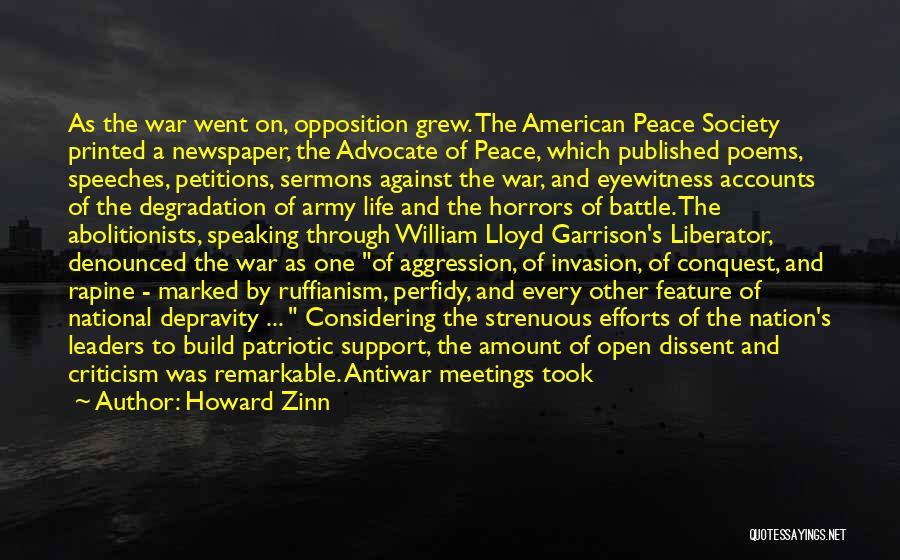 Battle Speeches Quotes By Howard Zinn