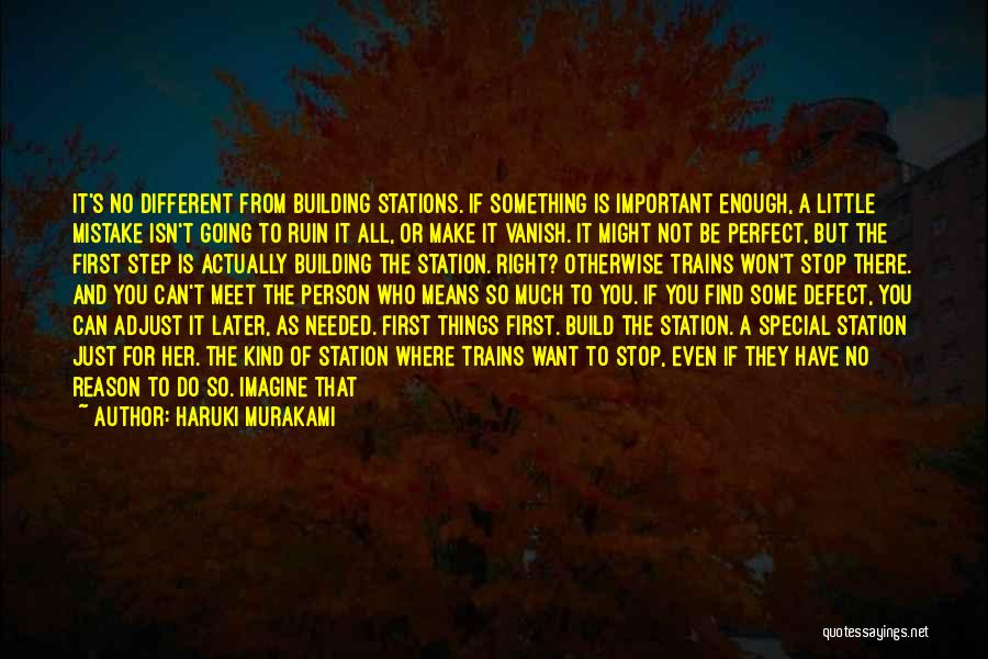 Be A Different Person Quotes By Haruki Murakami