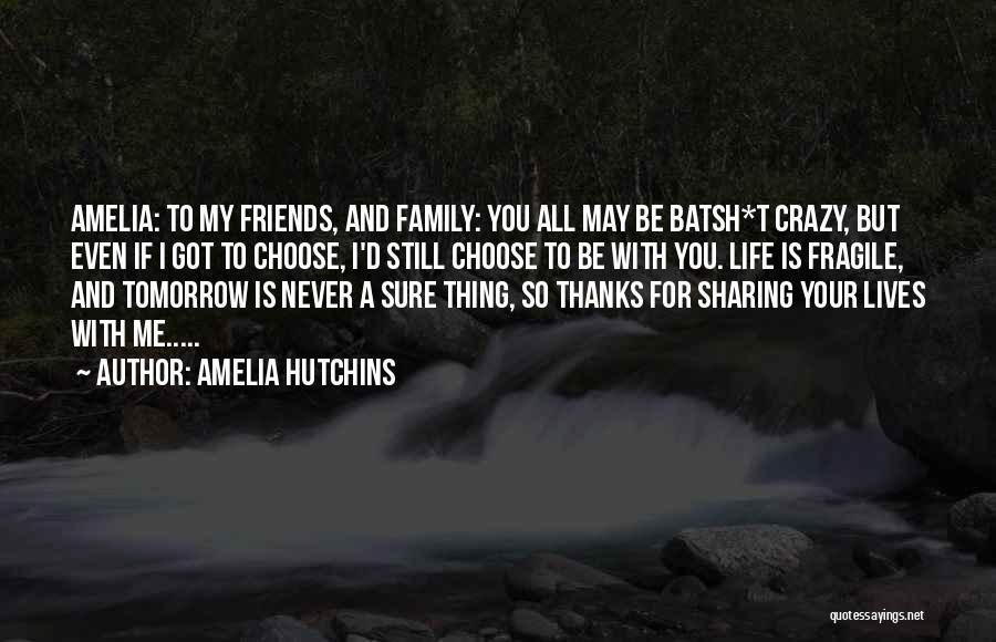 Be Crazy With Friends Quotes By Amelia Hutchins