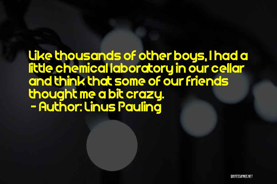 Be Crazy With Friends Quotes By Linus Pauling