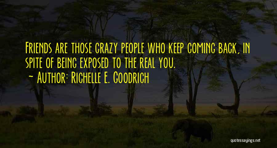 Be Crazy With Friends Quotes By Richelle E. Goodrich