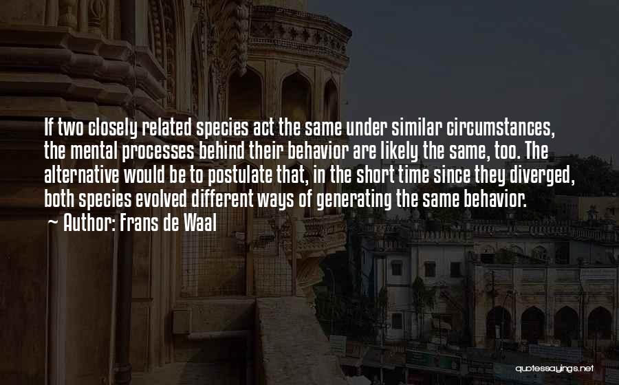 Be Different Short Quotes By Frans De Waal