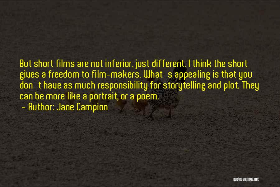 Be Different Short Quotes By Jane Campion