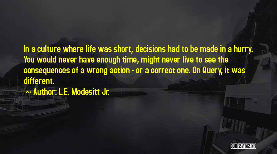 Be Different Short Quotes By L.E. Modesitt Jr.