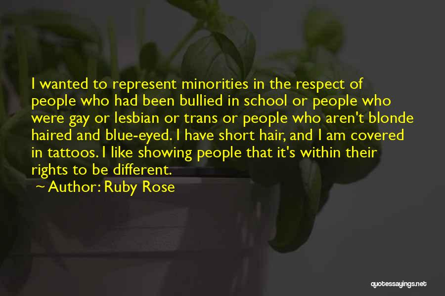 Be Different Short Quotes By Ruby Rose