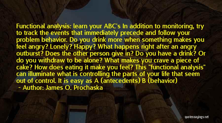 Be Happy Alone Quotes By James O. Prochaska
