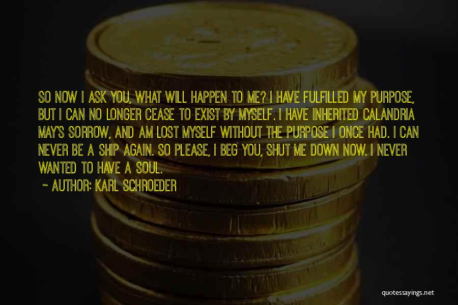 Be Lost Without You Quotes By Karl Schroeder