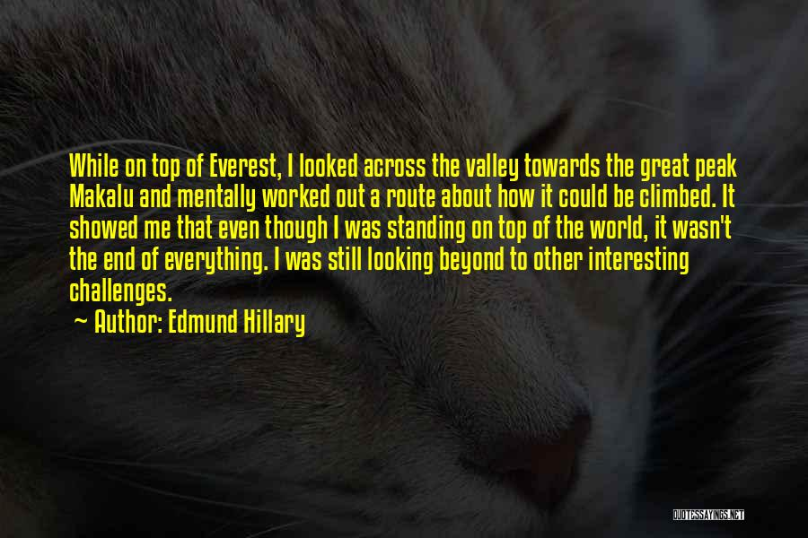 Be On Top Of The World Quotes By Edmund Hillary