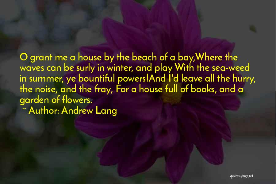 Beach And Summer Quotes By Andrew Lang