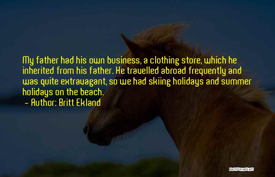Beach And Summer Quotes By Britt Ekland