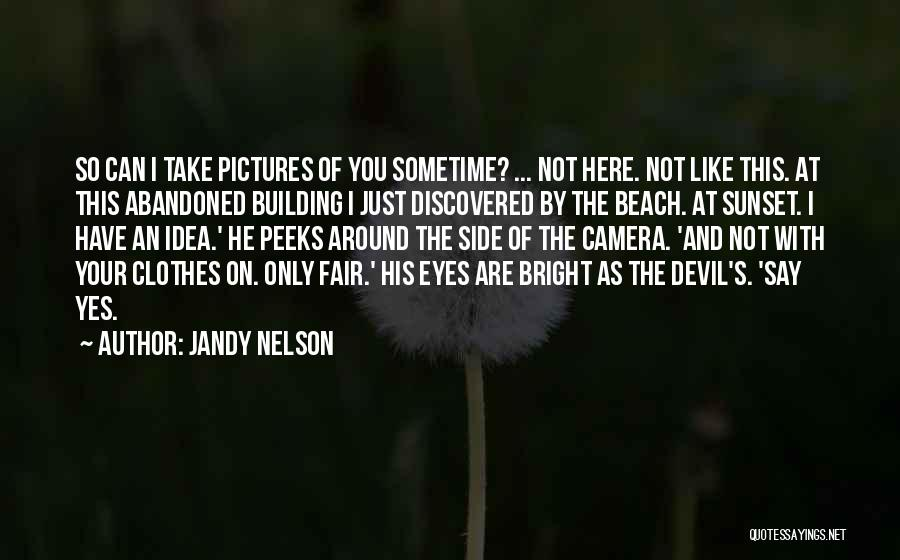 Beach And Sunset Quotes By Jandy Nelson