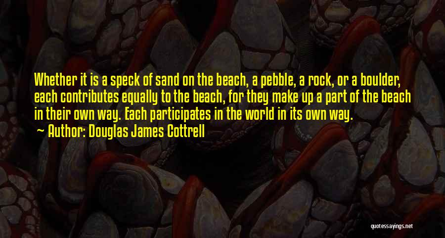 Beach Pebble Quotes By Douglas James Cottrell