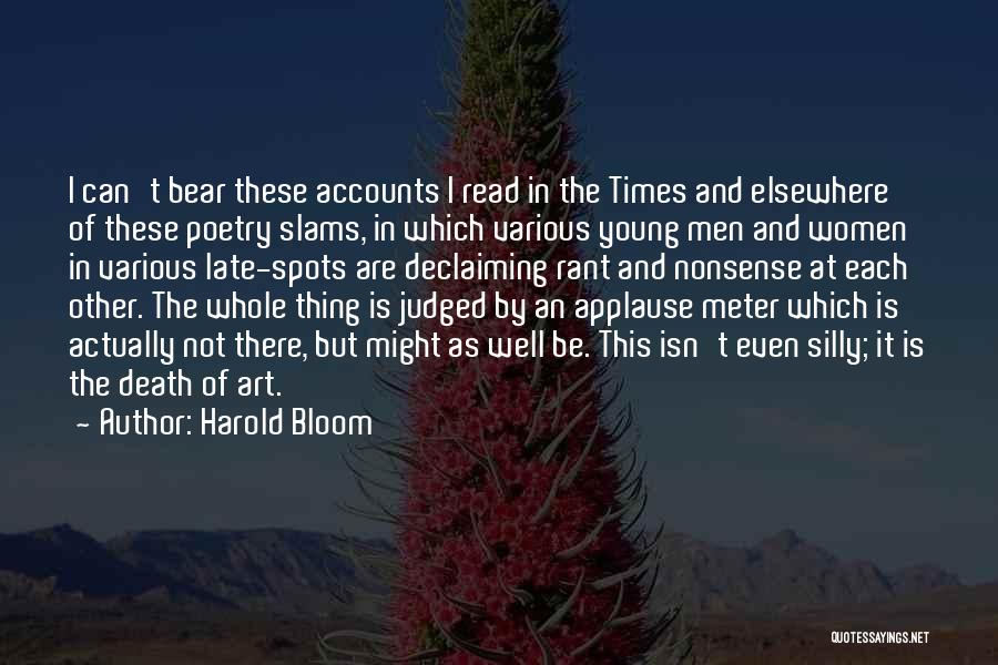 Bear Quotes By Harold Bloom