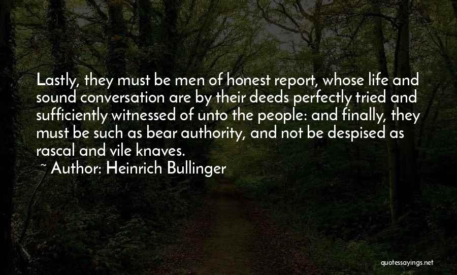 Bear Quotes By Heinrich Bullinger