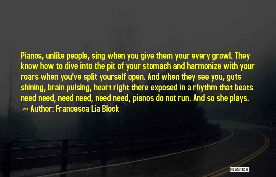 Beats Quotes By Francesca Lia Block
