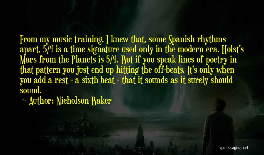 Beats Quotes By Nicholson Baker