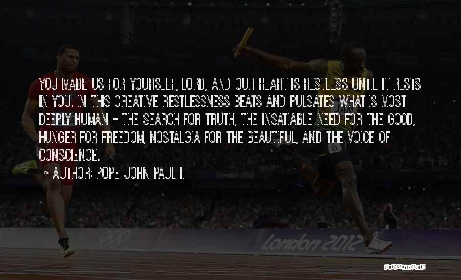 Beats Quotes By Pope John Paul II