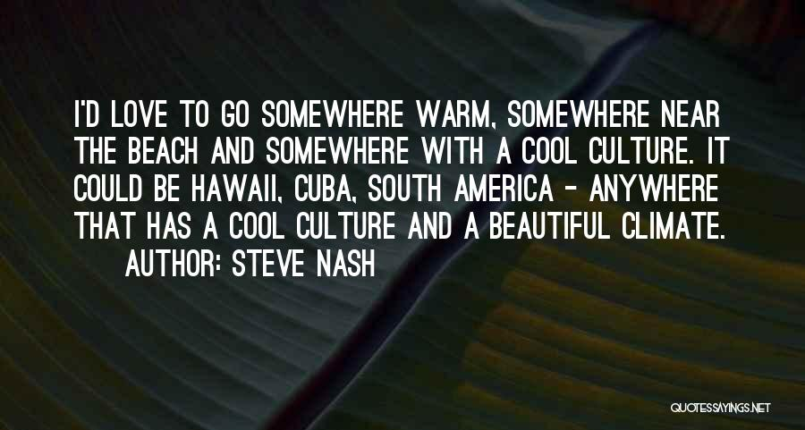 Beautiful Climate Quotes By Steve Nash