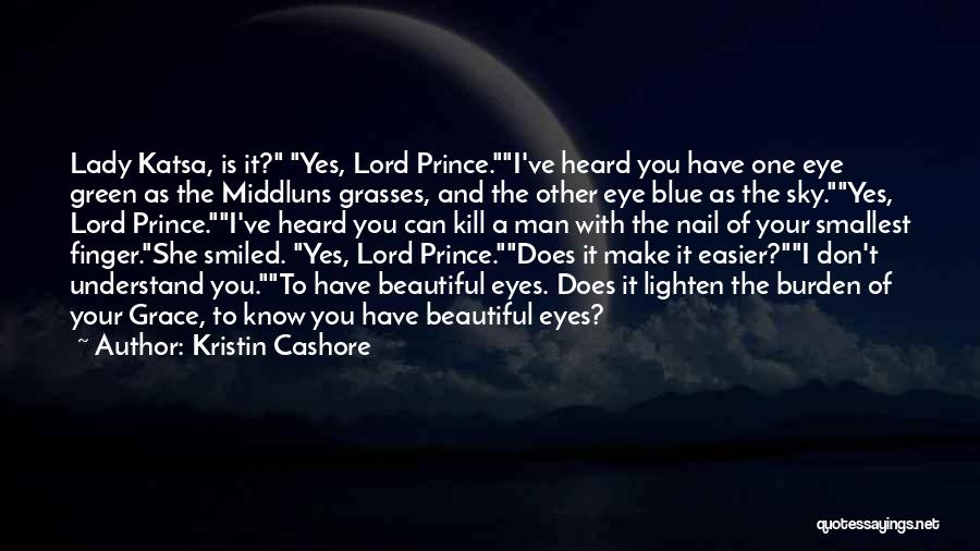 Beautiful Green Eye Quotes By Kristin Cashore