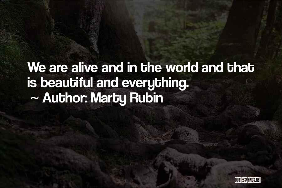Beautiful Life Quotes By Marty Rubin