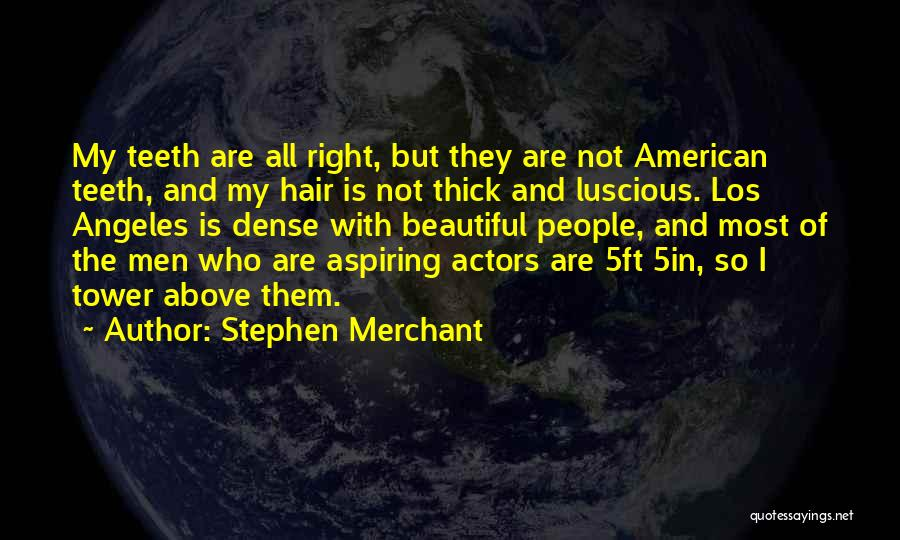 Beautiful Los Angeles Quotes By Stephen Merchant