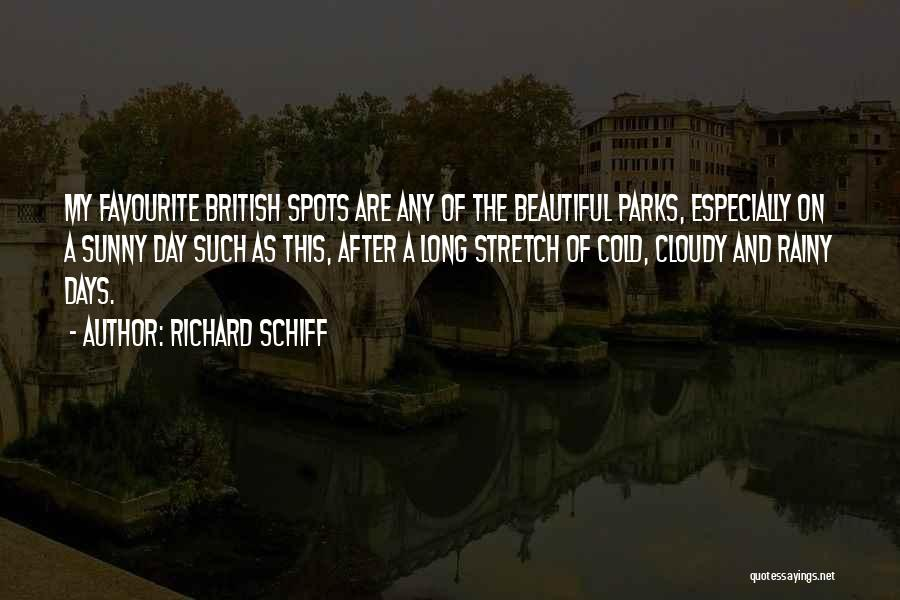 Beautiful Rainy Day Quotes By Richard Schiff