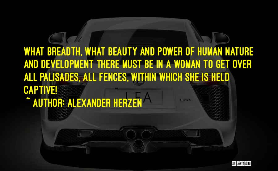 Beauty And Woman Quotes By Alexander Herzen