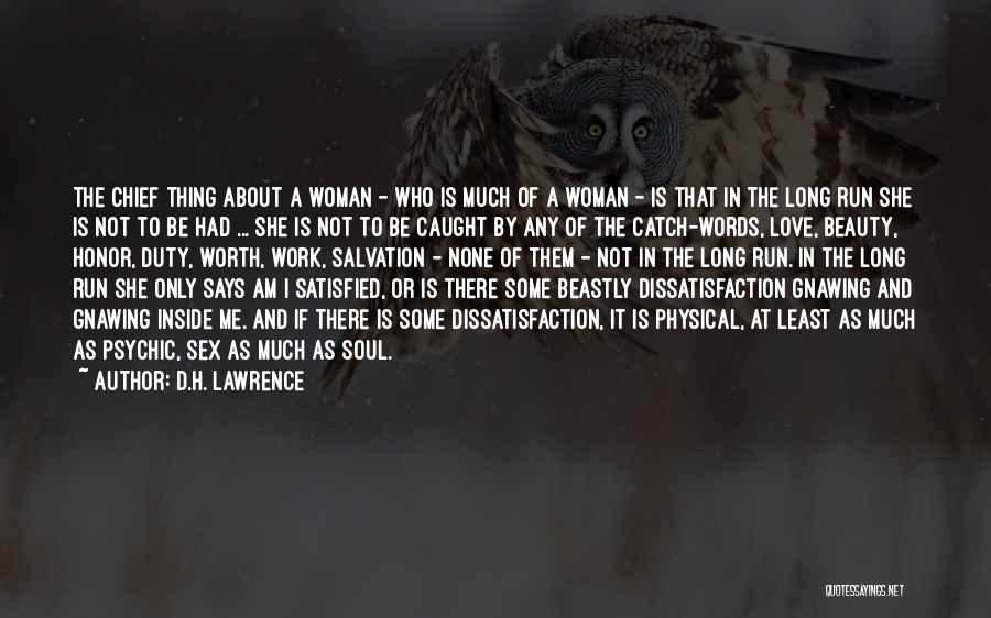 Beauty And Woman Quotes By D.H. Lawrence